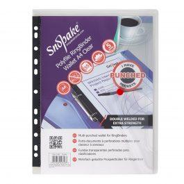 Snopake Ring Binder Wallets A4 Clear