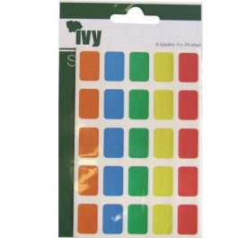 Ivy 12 x 18 mm Assorted Colours 120 Labels/Pack