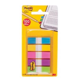 3M Post-It Small Index Flags 5 Colours Pk 100