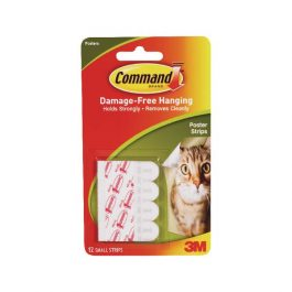3M Command Adhesive Poster Strips Pk 12