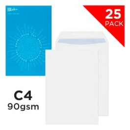 Blake Handypack Envelopes C4 Self-Seal 90 gsm White Pk 25