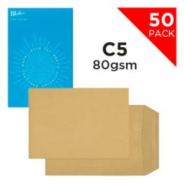 Blake Handypack Envelopes C5 Self-Seal 80 gsm Manilla Pk 50