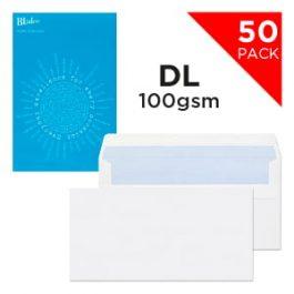 Blake Handypack Envelopes DL Self-Seal 80 gsm White Pk 50