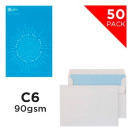Blake Handypack Envelopes C6 Self-Seal 90 gsm White Pk 50