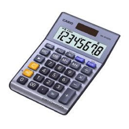 Casio Desk Calculator Angled View With Euro Conversion
