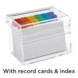 Osco Card Index Box Clear Acrylic