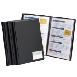 Goldline Deluxe Display Book A4 Black