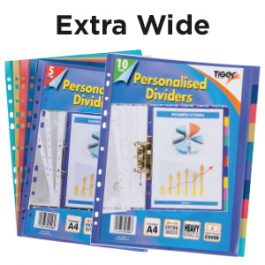 Tiger A4 Extra-Wide Presentation Dividers with Index Sheet