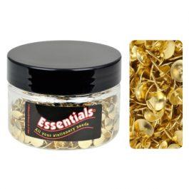 Essentials Tub Brass Drawing Pins 9.5mm Pk 350