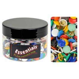 Essentials Tub Coloured Drawing Pins Pk 350