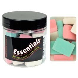 Essentials Tub Pencil Erasers Assorted Colours Pk 25