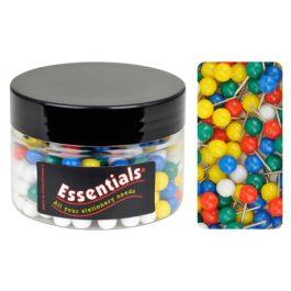Essentials Tub Coloured Map Pins Pk 200