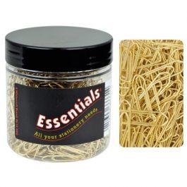 Essentials Tub Brass No Tear Paperclips Pk 500