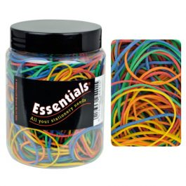 Essentials Tub Rubber Bands Assorted Sizes Pk 150
