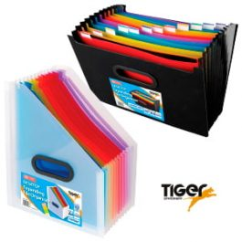 Tiger Desktop Expanding File Organiser A4 13-Part