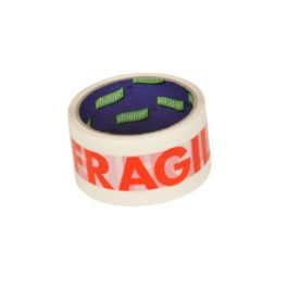 Fragile Printed Tape Red/White