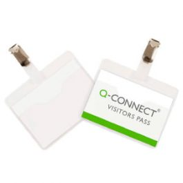 Q-Connect Conference Badges Visitors 60 x 90 mm Pk 25