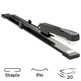 Q-Connect Long Arm Stapler Black