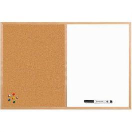 Bisilque Cork/Drywipe Board Pine-Framed