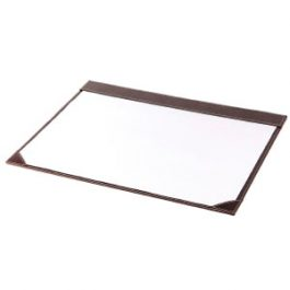 Osco Faux Leather Large Desk Mat Brown