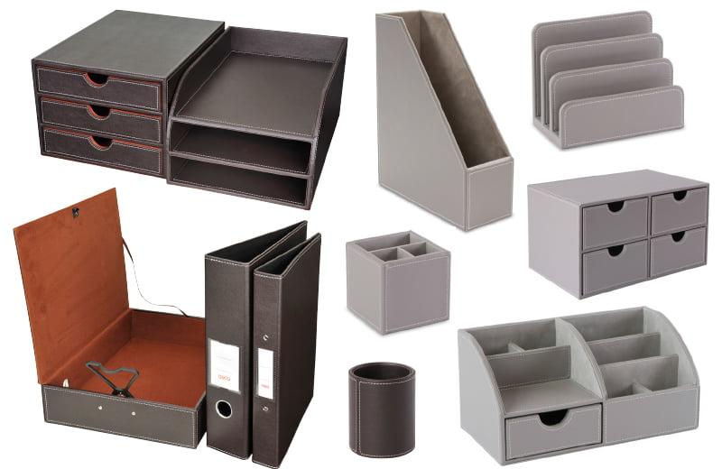 Faux Leather Desk Accessories