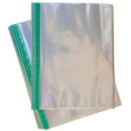 Premium Punched Pockets With Green Strip