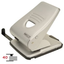 Rapesco 2 Hole Paper Punch 40 Sheet Capacity Silver
