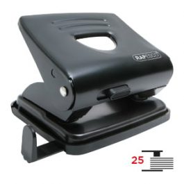 Rapesco 2 Hole Paper Punch 25 Sheet Capacity Black