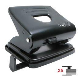 Rapesco 2 Hole Paper Punch 25 Sheet Capacity Black
