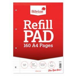 Silvine Refill Pads A4 Feint & Margin 80-Leaf