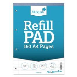 Silvine Refill Pads A4 Narrow Feint & Margin 80-Leaf