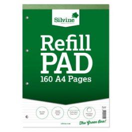 Silvine Refill Pads A4 Narrow Feint Ruled 80-Leaf