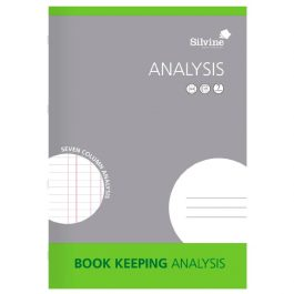 Silvine Account Book A4 7-Column Analysis 32 Pages