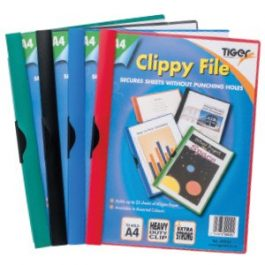 Tiger Clippy Files A4 Assorted Colours