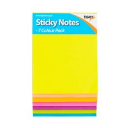 Tiger Neon Sticky Notes Pad 7 Colours