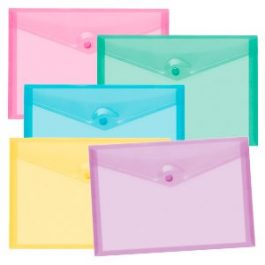 Tiger Carry Wallets Foolscap Stud Fastening Pastel Colours