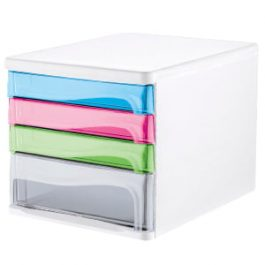 Tiger 4-Drawer Filing Set With 3 Shallow Drawers and 1 Deep Drawer