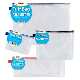 Tiger Tuff Bags Assorted Coloured Zips
