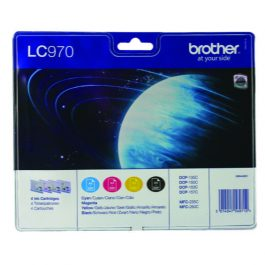 Brother LC970 Value Pack 4 Cartridges