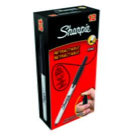 Sanford Sharpie Retractable Fine Marker Black Pk 1