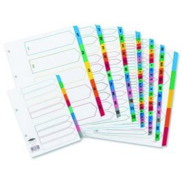 Concord Index 1-50 A4 Multicoloured Numbered Tabs