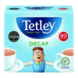 Tetley Decaffeinated Tea Bags Pk 80