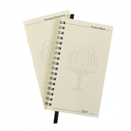 Collins 2021 Elite Pocket Diary Refill Week to View