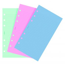 Filofax Personal Fashion Coloured Ruled Notepaper Refill