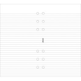 Filofax Personal White Ruled Notepad