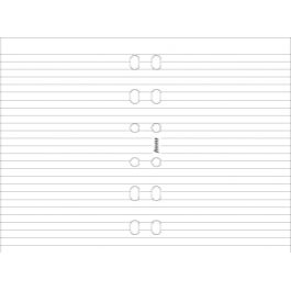 Filofax Pocket White Ruled Notepad
