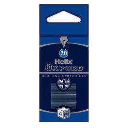 Helix Oxford Blue Ink Cartridges Pk 20