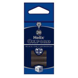 Helix Oxford Black Ink Cartridges Pk 20