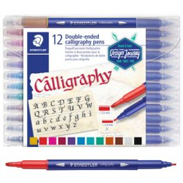 Staedtler Double-Ended Calligraphy Pens Pk 12