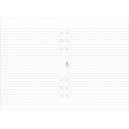 Filofax A5 White Ruled Notepad